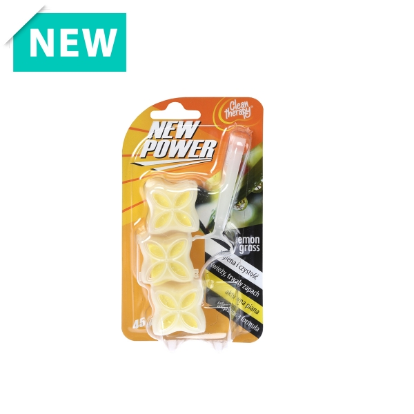 NEW POWER kostka toaletowa Lemon Grass